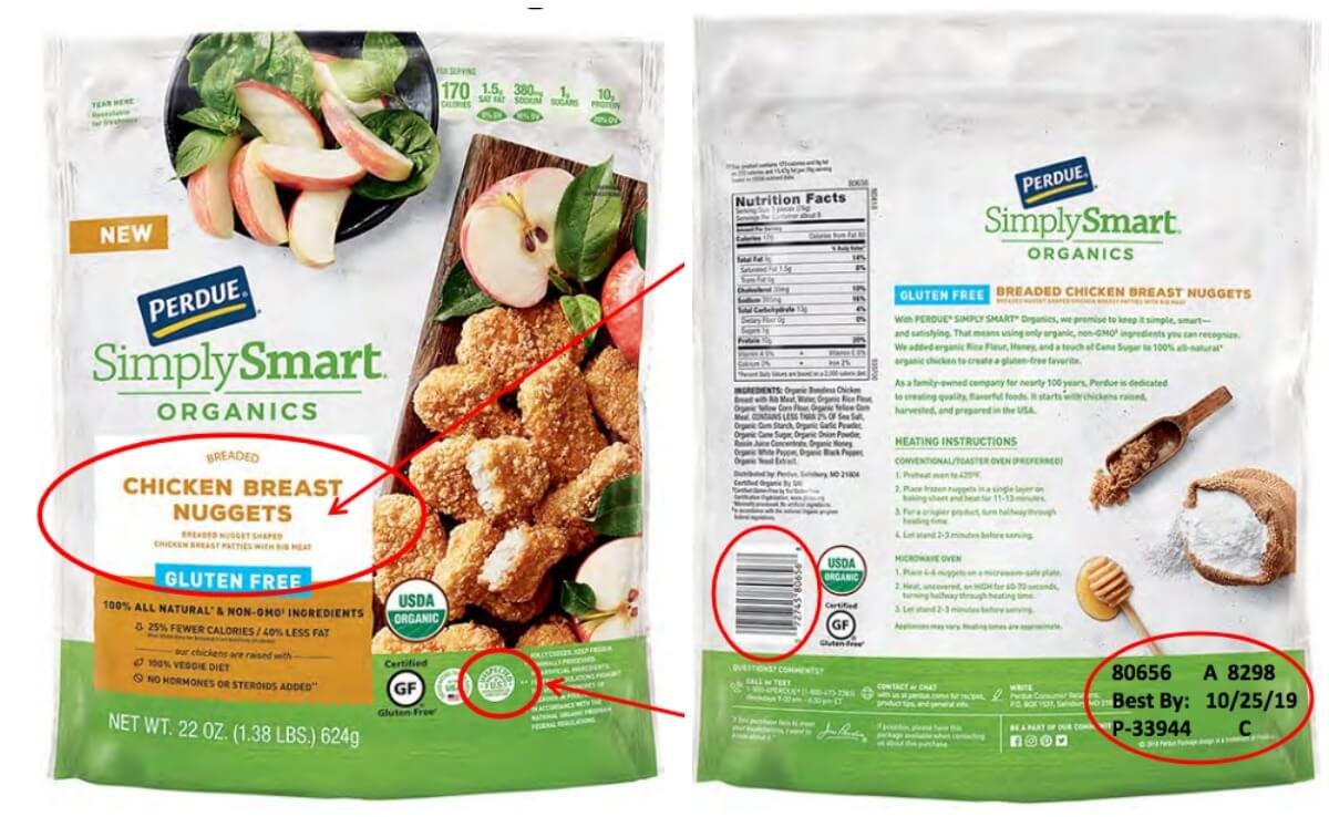 ⚠️ HUGE #RECALL ! Please read and share this very important information! @PerdueChicken #organic #glutenfree #chickennuggets #perdue #simplysmart #chicken #fda https://lrwc.co/2W2d620