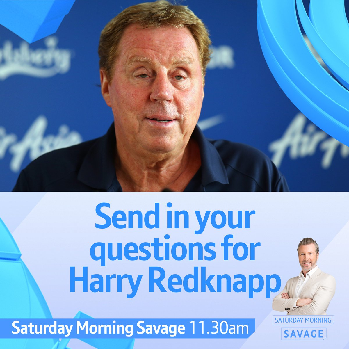 The clubs he's managed 👔 His January bargains 💰 A 40+ year football career ⚽️  Reply with your questions for Harry Redknapp and he'll answer the best on this week's #SaturdaySav 👌 https://t.co/FjFxragTri