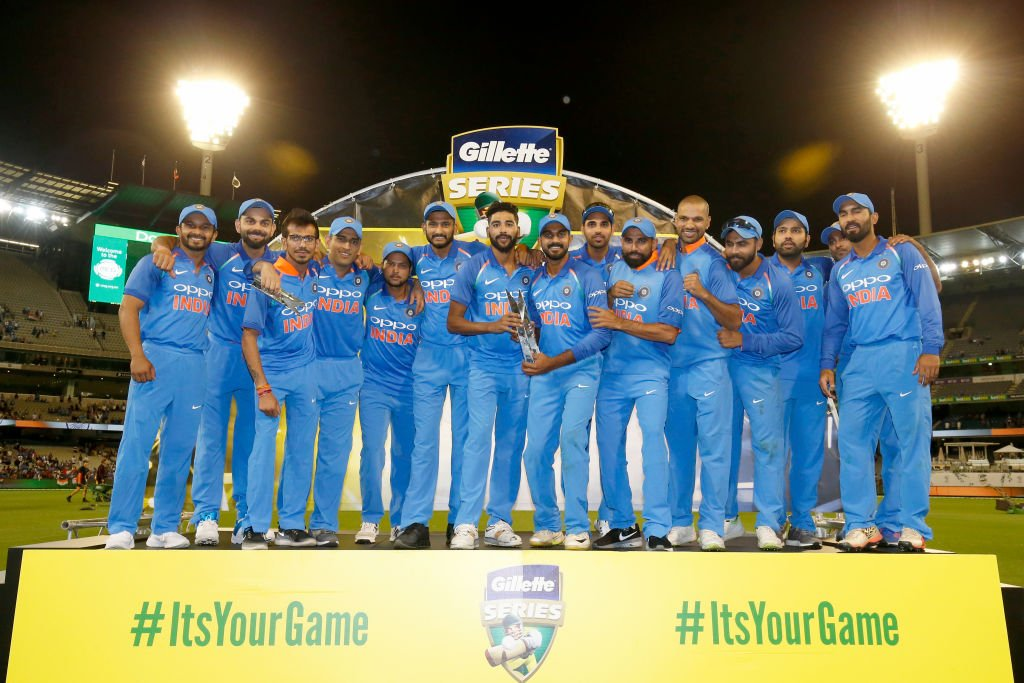 Congratulating #TeamIndia on winning the first ever bilateral ODI series in Australia✌ Well played Champions!!! Kudos to the Man of the Series, @msdhoni😎 Great game👏👏 @imVkohli #AUSvIND #BleedBlue