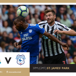 IT'S MATCHDAY! Newcastle United take on @CardiffCityFC in the @premierleague at St. James' Park this afternoon (kick-off 3pm GMT). Howay the lads! #NUFC
