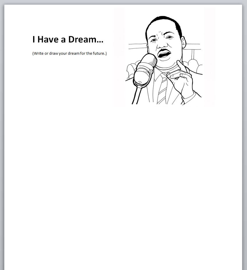 Stop by Central Children's for today's self-guided literacy activity! Using Martin Luther King, Jr's famous speech as a prompt, let us know what your dream is for the future!   #FLPkids #library #Philly #MLKDay