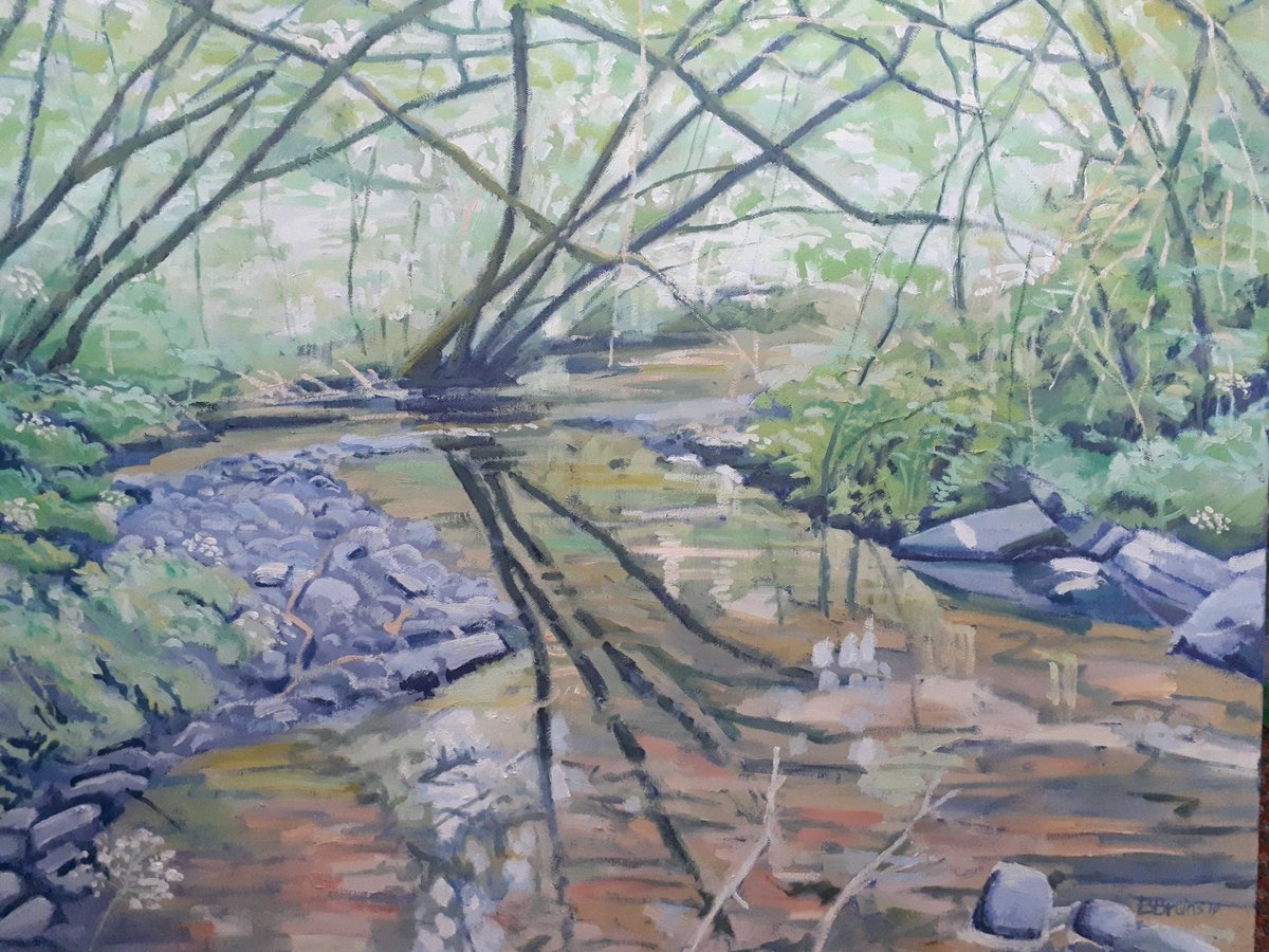 This recent oil #painting of #Landkey Brook in North Devon is now in my https://t.co/g8Y4P4H0sI shop! #art https://t.co/yW0kEt8Q3G