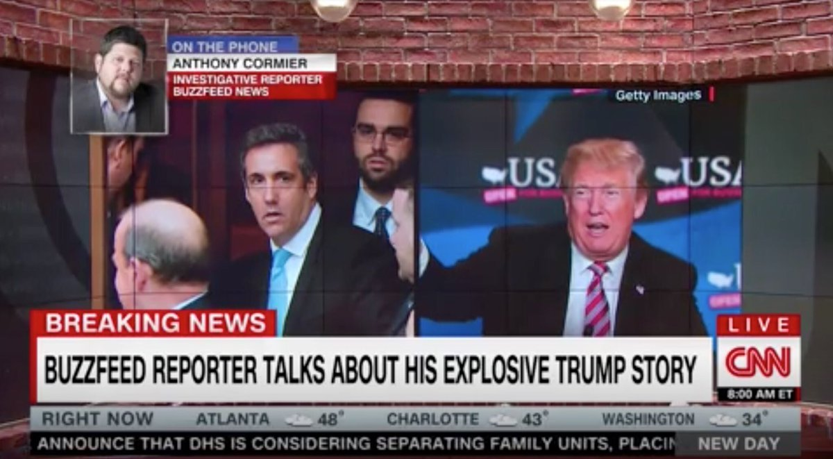 Buzzfeed reporter just admitted on CNN they haven't actually seen any evidence that confirms their story