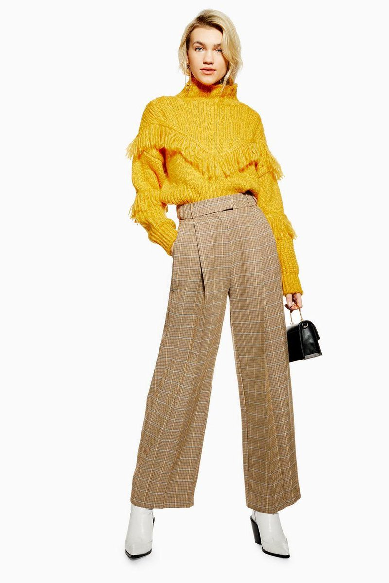 Give your workwear wardrobe a fashion twist with these wide leg check trousers https://t.co/SYERGuSUyJ