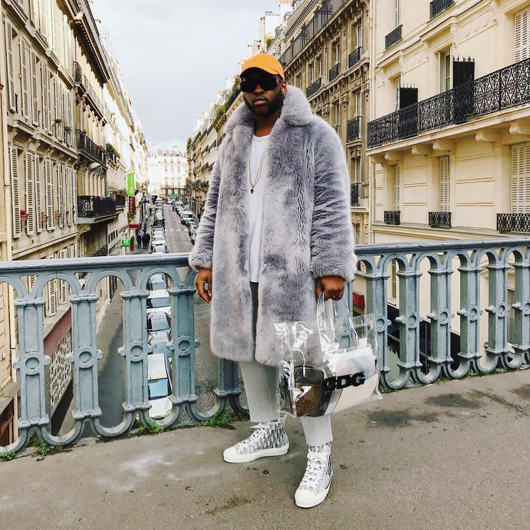 @Johnson_Gold attending Paris Fashion Week with @Dior high-top sneakers on his feet.   #fashion #menswear #ootd
