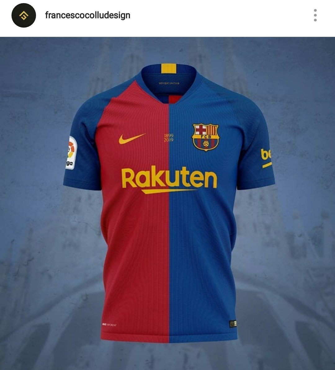 51ca9a3654f Barcelona 2019-2020 home shirt concept. Not by me and can't find the users  Twitter handle but the Instagram is there.pic.twitter.com/wIIoFPXGhv