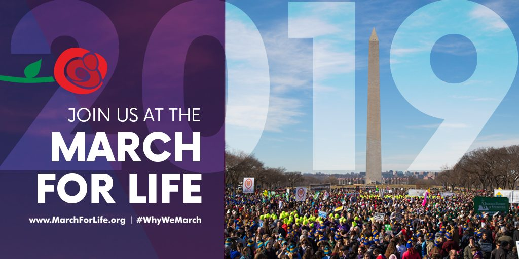 Dear friends: Please pray for all the people at the #MarchForLife2019 who are marching to defend the life of every human being, from conception to natural death. Pray for every life to be seen as a beautiful creation of God. Mysterious, unique, holy. #MarchForLife #WhyWeMarch
