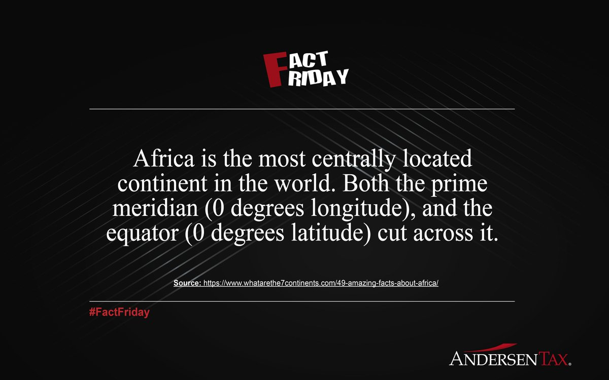 RT @AndersenTax_NG: #Factfriday #Africa https://t.co/xeE34iNl1V
