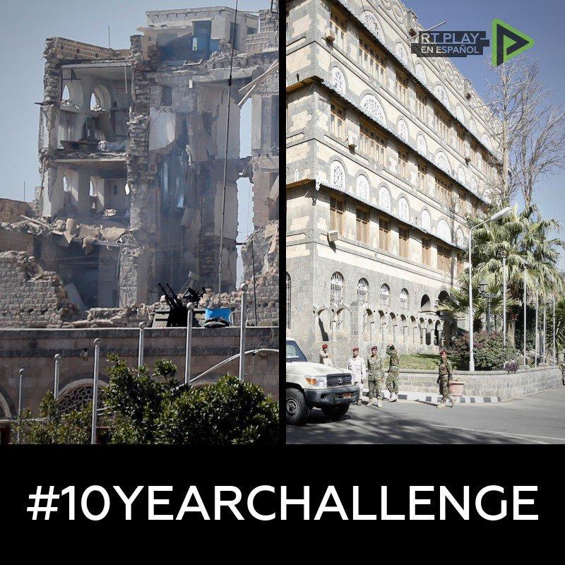 RT @ActualidadRT: Cuando hay guerra, en diez años las ciudades solo cambian a lo peor.  #10yearchallenge https://t.co/LATu4OTEhq