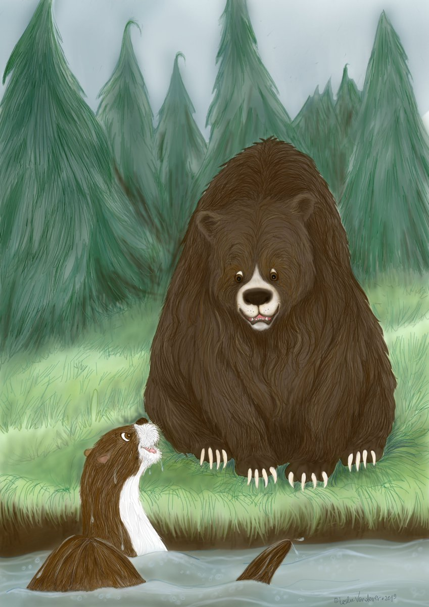 It&#39;s a conversation between a pair of forest friends for the first #Colour_Collective @Clr_Collective of 2019. #TeaGreen #kidlitart #illustrationart #chroniclife<br>http://pic.twitter.com/dMH2rXmRri