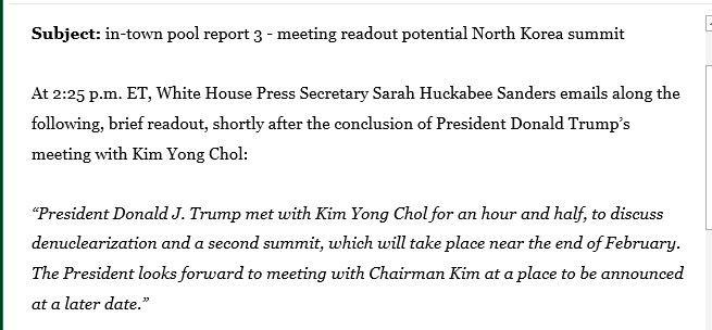 White House eyes second Trump-Kim Jong Un summit next month