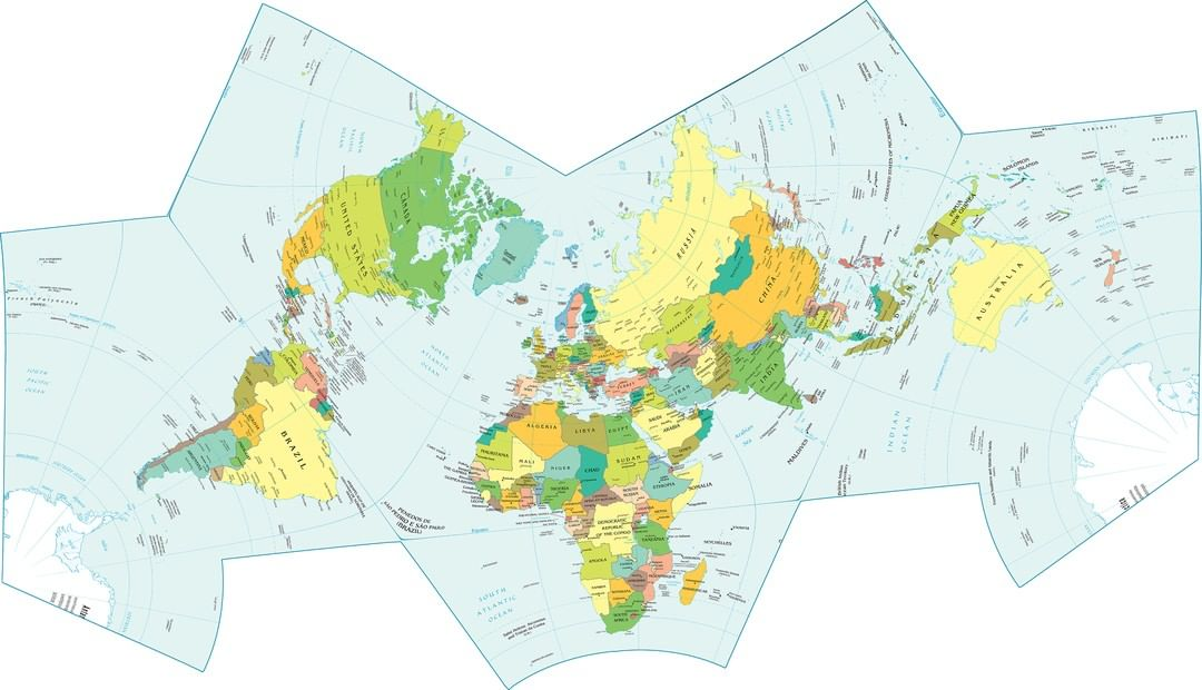 Mapscaping On Twitter Bat Shaped Conformal World Map By Luca