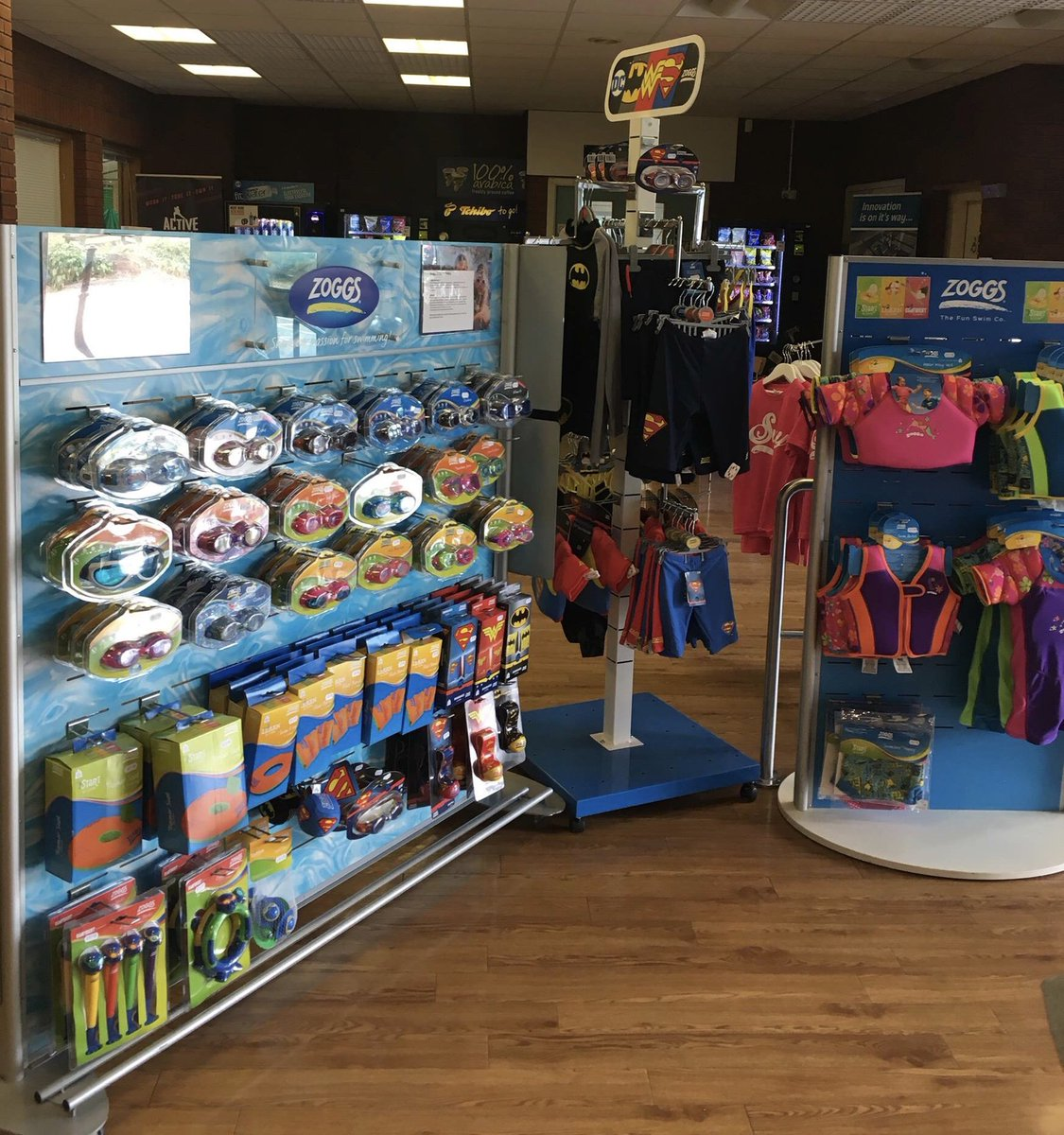 eeb877b6b From swimwear to buoyancy aids, we've got it stocked! Pop along and have a  look for yourself! Family Members receive 10% off all Zoggs purchases.