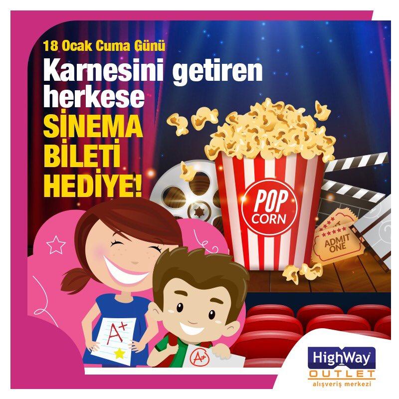 Göstermiş olduğunuz yoğun katılımdan dolayı 'Karneni getir sinema biletini götür' kampanyamız 1 gün daha uzatılmıştır.. 😊 @highwayoutlet keyifli alışverişler diler.. #highwayoutlet #alışveriş #karne #sömestr