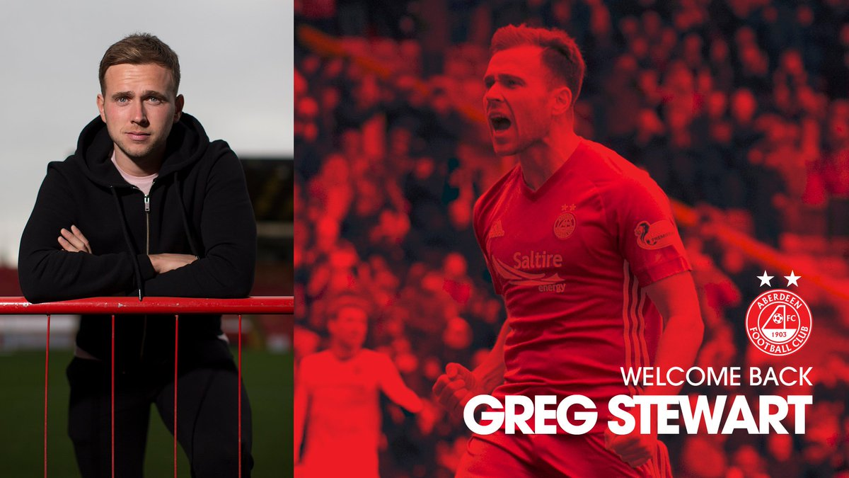 Aberdeen FC's photo on Greg Stewart