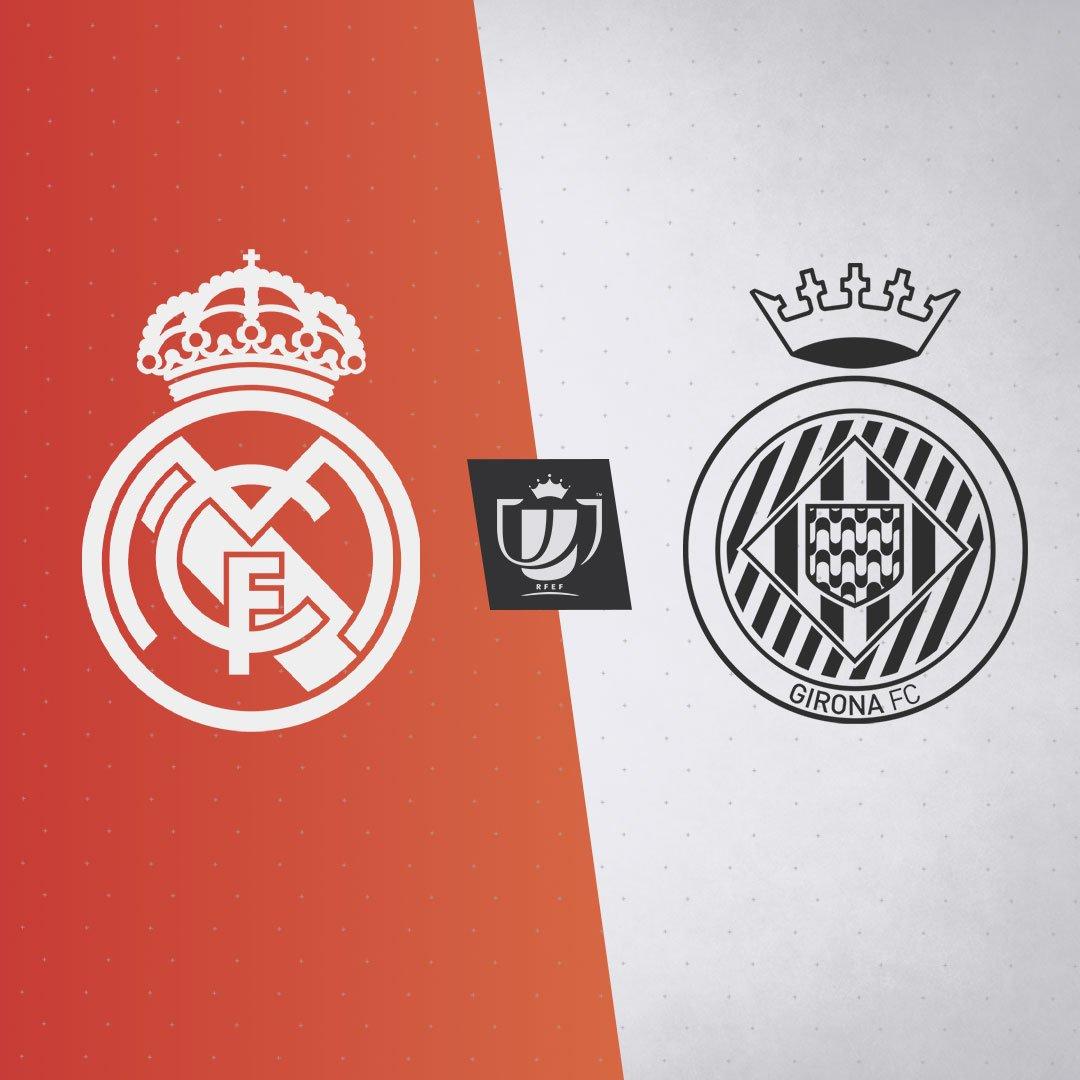 🔀🏆 ¡El @GironaFC será nuestro rival en los cuartos de final de la Copa del Rey! #RMCopa | #HalaMadrid