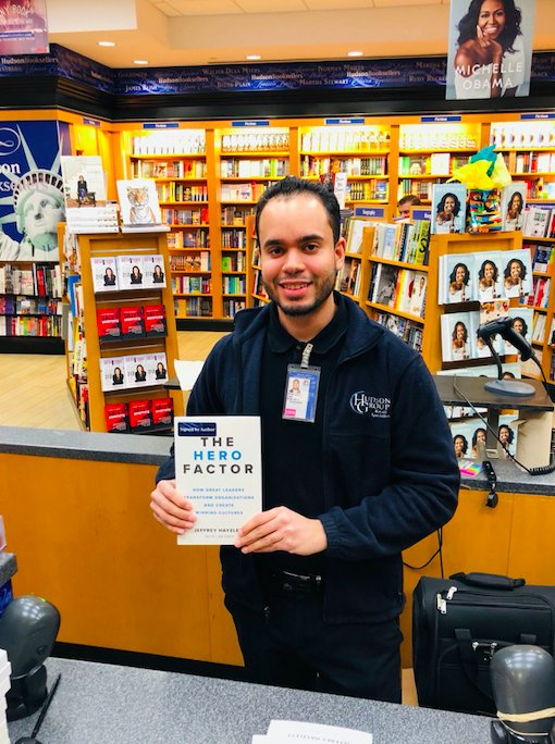 Great to see the #HeroFactor in the Newark Airport. Thanks to Hudson Booksellers and @Entrepreneur for great placement on the #bestseller table. And thanks to all the great staff in these stores selling to new Hero CEO's!