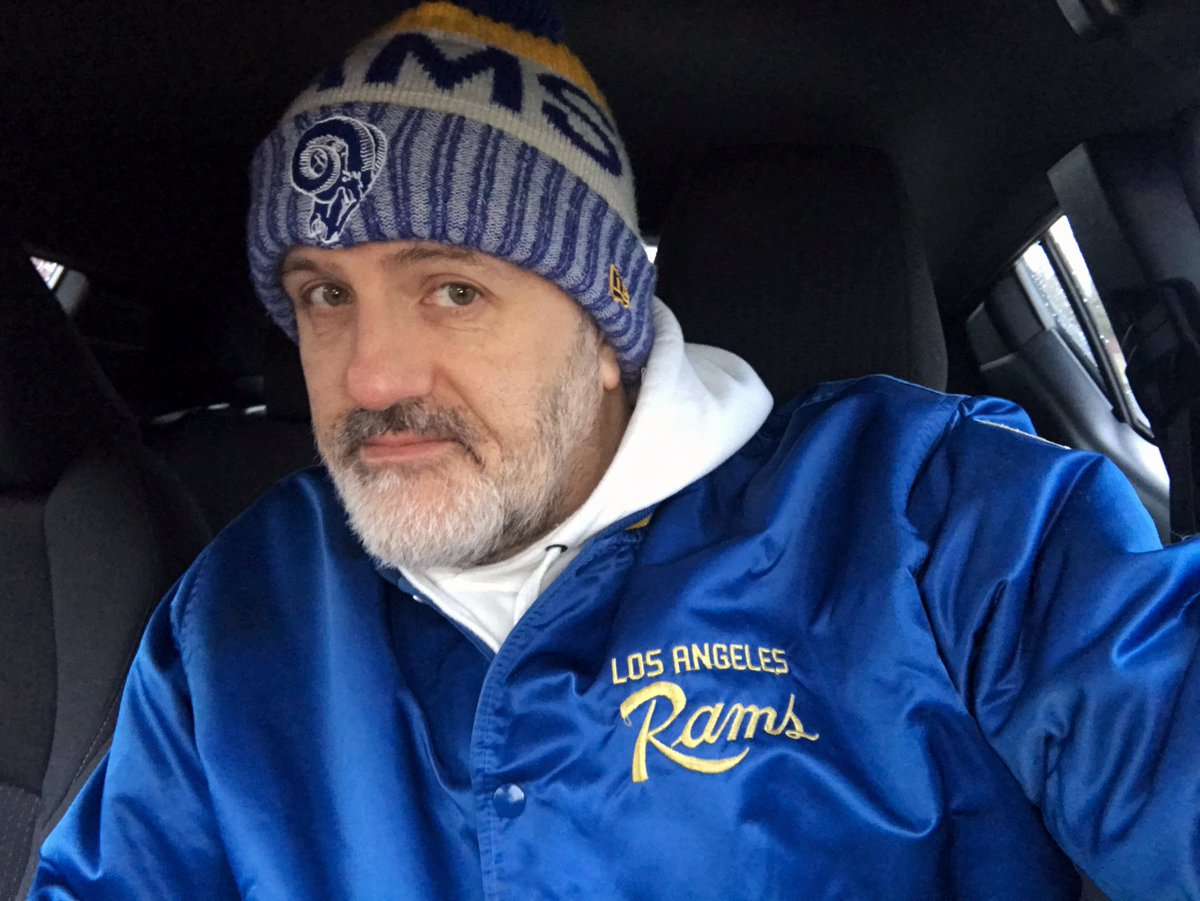 Breaking out my old Starter jacket from when I was a senior in high school (1986) for this @RamsNFL #FootballFriday In Seattle today!  More surprising that I still have it or that it still fits? <br>http://pic.twitter.com/3Pg9dNfyCw