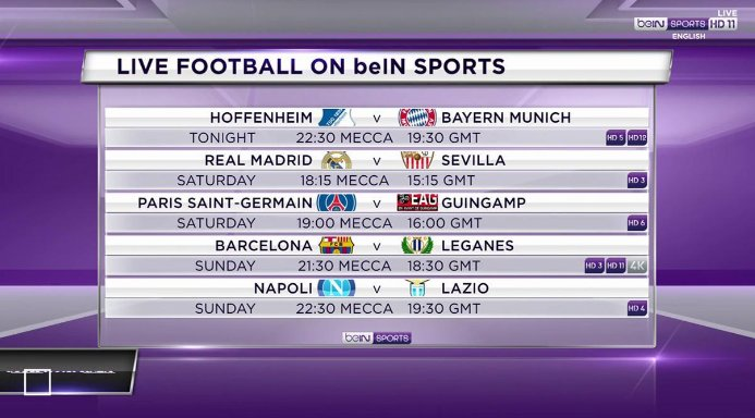 Several key European club fixtures on this weekend 👇  #Football