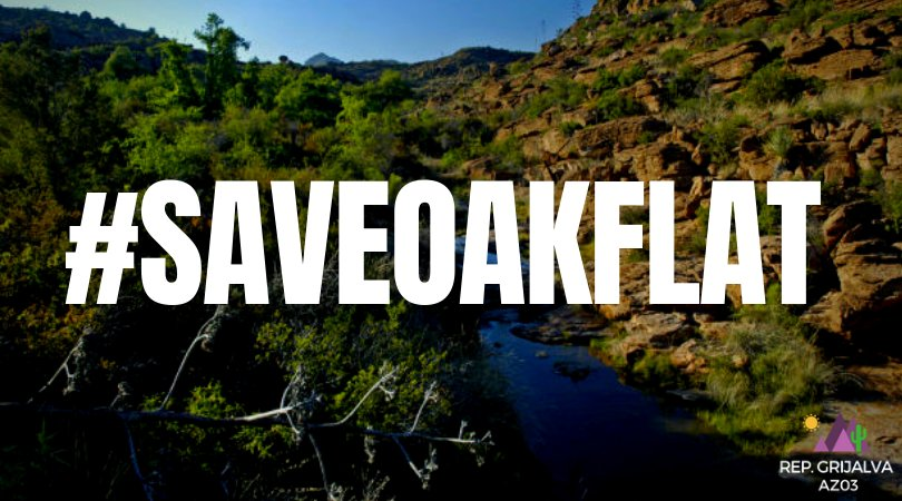 Myself and @SenSanders are re-introducing the #SaveOakFlat Act to reverse the egregious land swap that gave away sacred Apache land to an international mining company. It is time for our government to fully respect tribal sovereignty and all Indigenous People's rights.