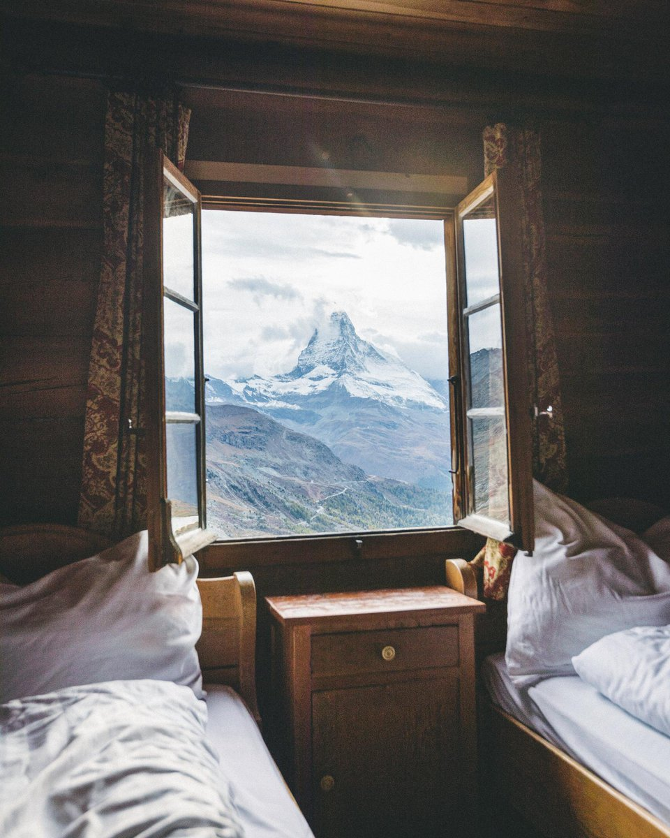 'With nearly every place fully booked in Zermatt, we stumbled upon this alpine guesthouse high up in the mountains. This is what I call room with a view.' 📸 + caption by Niklas Söderlund #TGIF