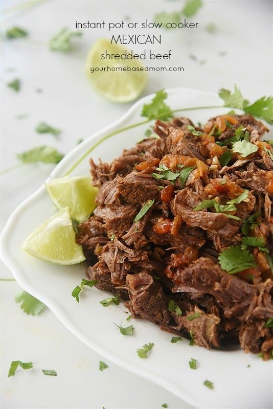This Instant Pot or Slow Cooker Mexican Shredded Beef from Your HomeBased Mom can be used in so many tasty low-carb dinner ideas! I'd love this for taco salad or served in lettuce wraps; what do you think? >>> https://t.co/uFoqsZCfny