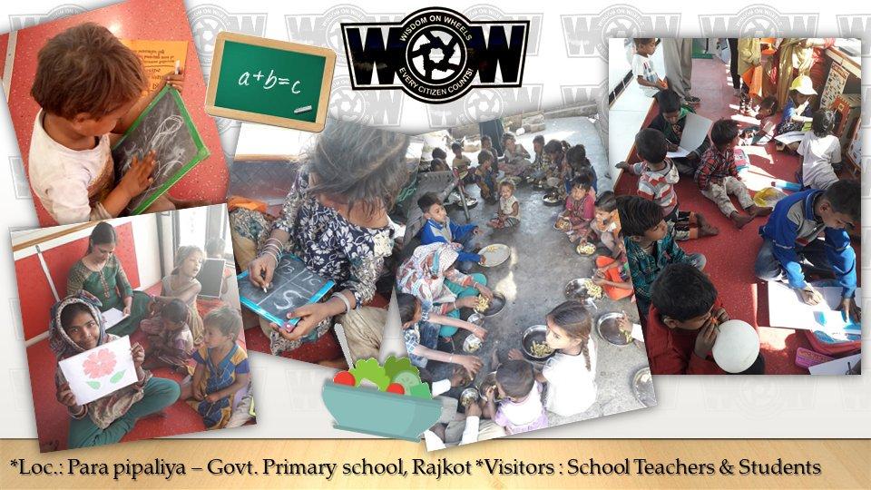 #WisdomOnWheels (#WoW) in action...  #EveryCitizenCounts #Self4Society #ShapingANewIndia #GoodGovernance #Rajkot