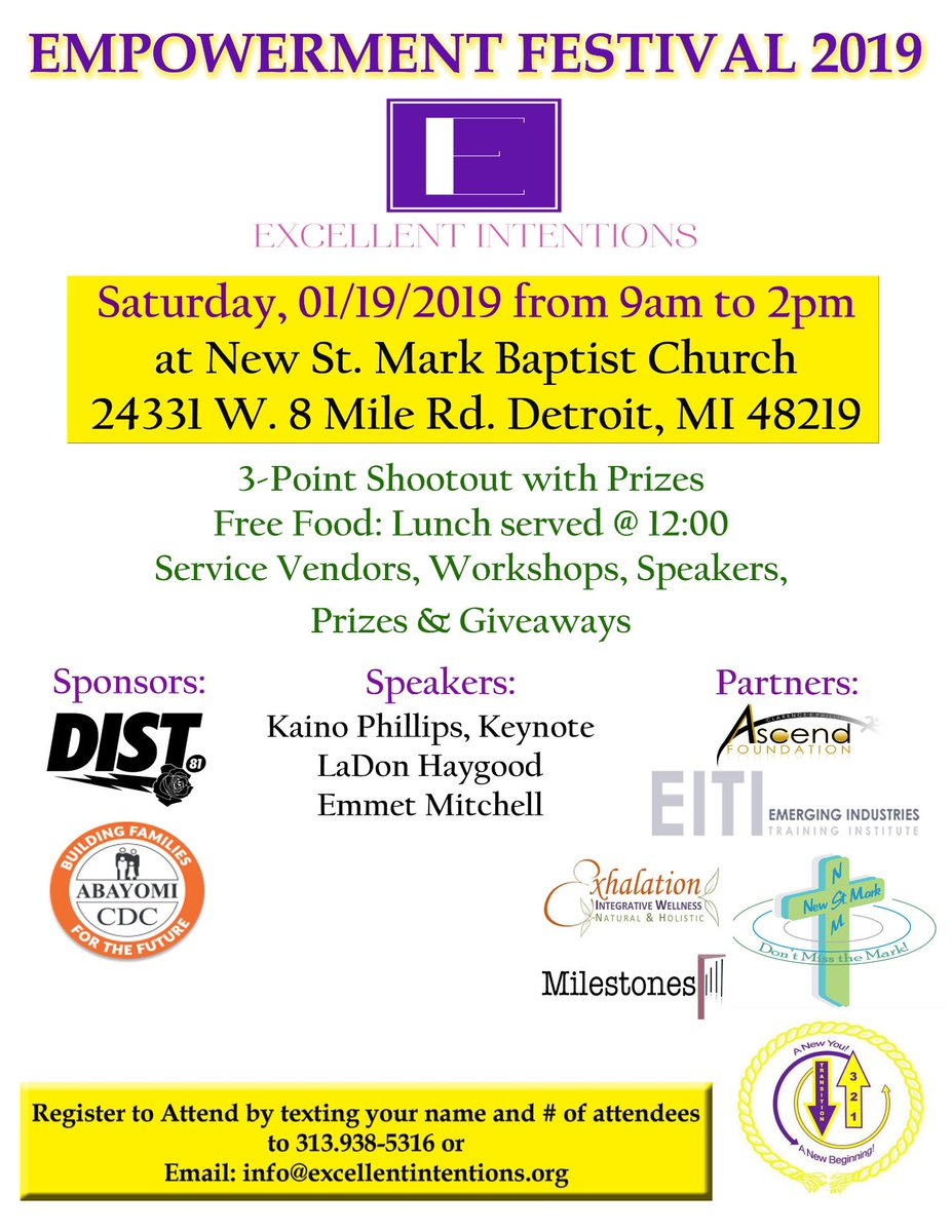test Twitter Media - DON'T MISS IT: Excellent Intentions Youth Empowerment Festival is TOMORROW from 9-2pm. Check out the flyer below & register today! ✨  #AbayomiCDC #Nonprofit #Detroit #YouthDevelopment #CommunityBuilding https://t.co/H06LrjpTLZ