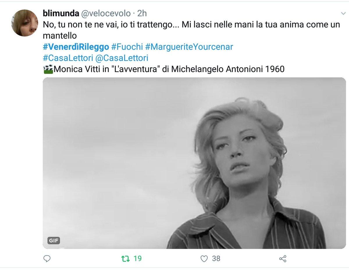 Vince il gioco letterario con #  #VenerdìRileggo a #CasaLettori   @velocevolo   Con 38 'Mi piace'  Grazie
