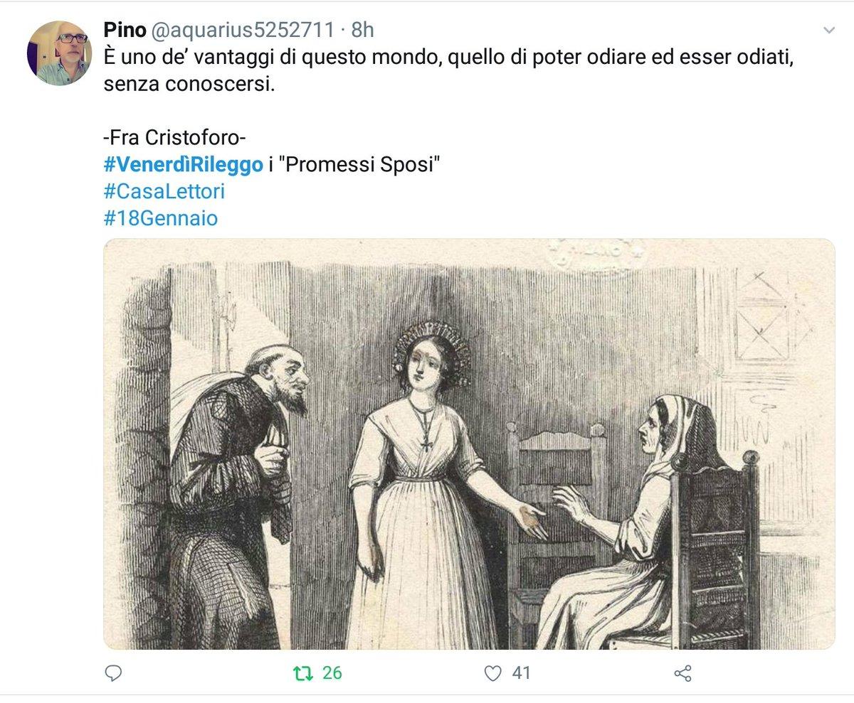 Vince il gioco letterario con #  #VenerdìRileggo a #CasaLettori   @aquarius5252711   Con 41 'Mi piace'  Complimenti