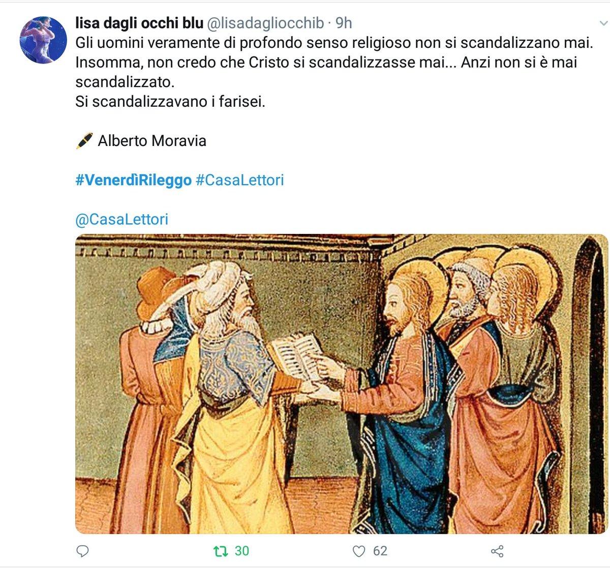 Vince il gioco letterario con #  #VenerdìRileggo a #CasaLettori   @lisadagliocchib   Con 62 'Mi piace'  Complimenti