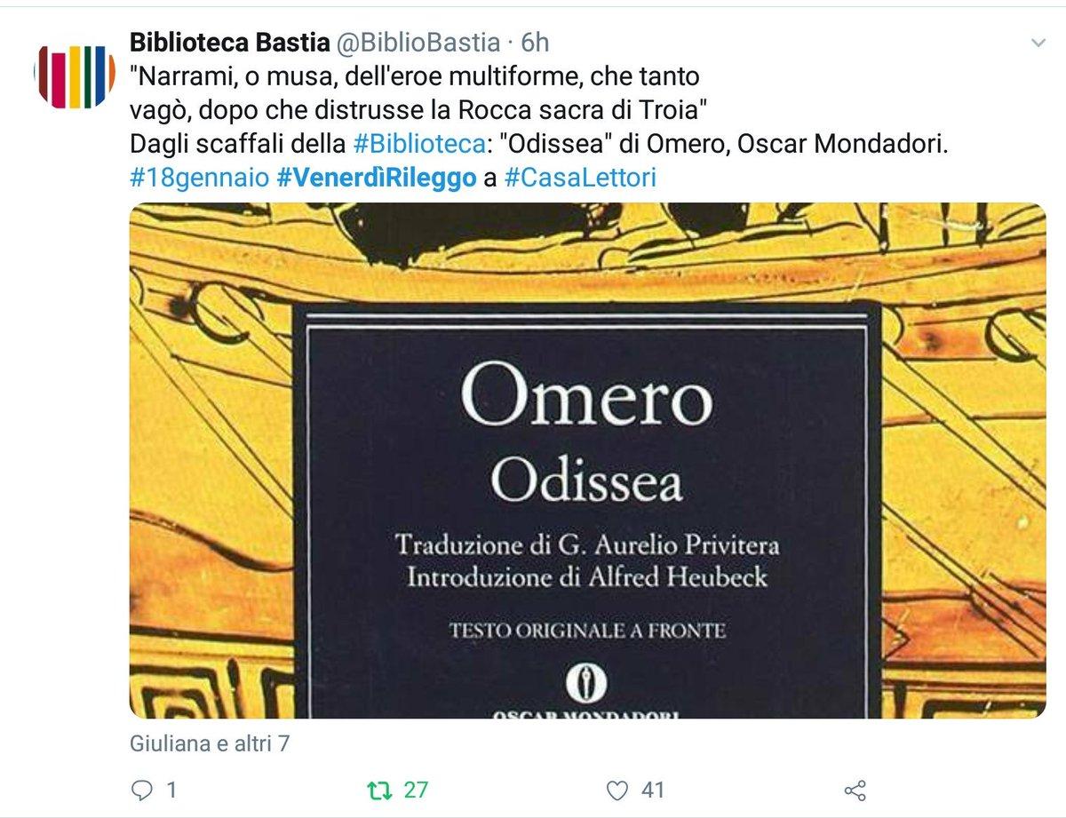 Vince il gioco letterario con #  #VenerdìRileggo a #CasaLettori   @BiblioBastia   Con 41 'Mi piace'  Grazie