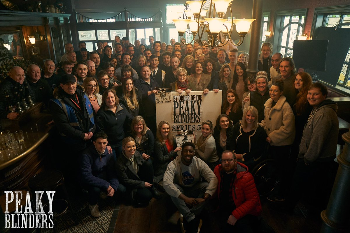 That's a wrap! By order of the #PeakyBlinders cast and crew. Photo by @RobertViglasky
