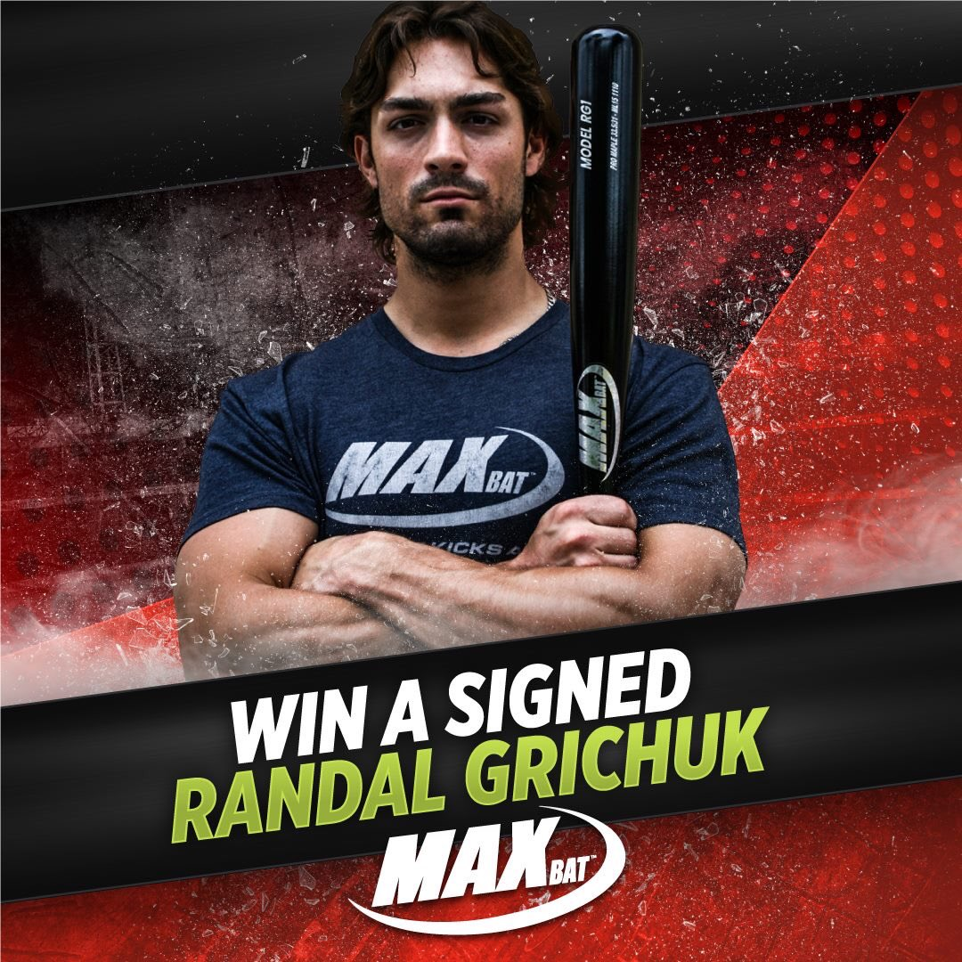 I'm teaming up @MaxBatBaseball to giveaway one of my signed MaxBats! To enter, go here: https://bit.ly/2RMjMBV