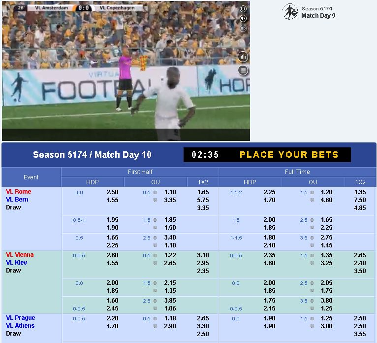 Can't get enough football #betting? SBOBET's Virtual Football is the perfect game for you! Sign up at https://goo.gl/WNrNxL and enjoy the beautiful game whenever you like!