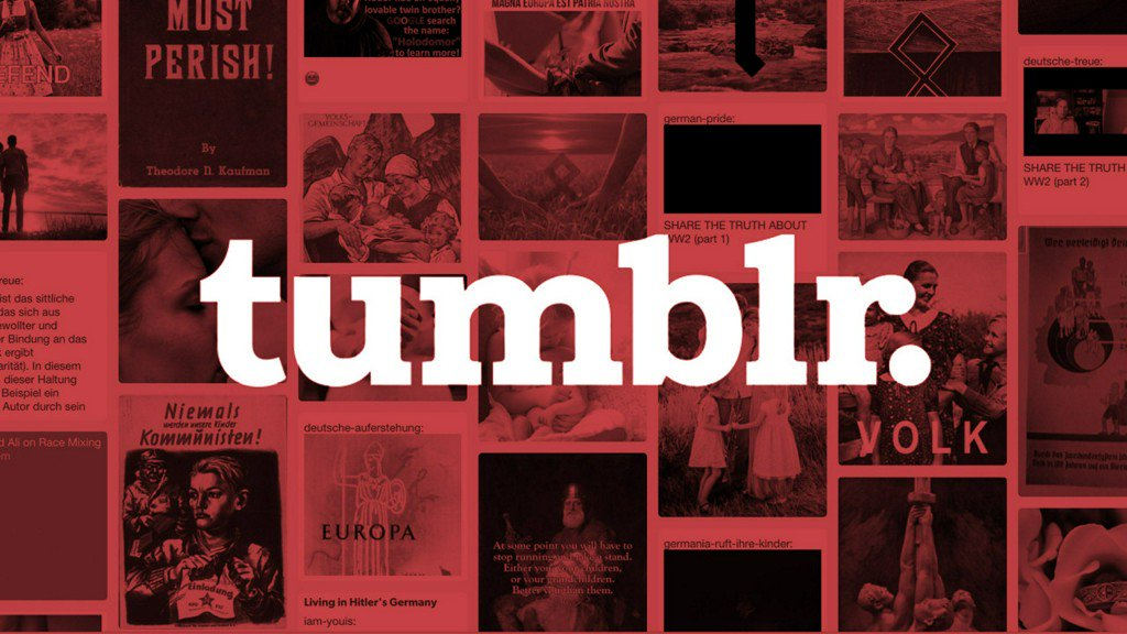 One month after controversial adult-content purge, far-right pages are thriving on Tumblr https://t.co/SeMvf2gylr