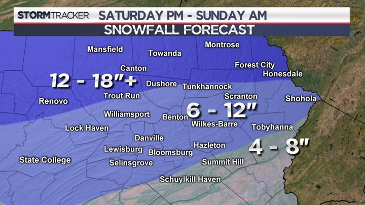 LATEST SNOWFALL UPDATE: Here are the latest projected snow totals for this weekend's storm.  Get the latest updates wherever you are with the Stormtracker 16 Weather App and at https://t.co/IaGEU98IAJ | INTERACTIVE RADAR >>>  |https://t.co/nQcPGLcup8