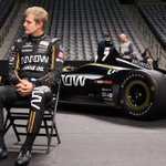 """Marcus Ericsson is a huge hockey fan.  """"Growing up, one of my biggest idols was Peter Forsberg. I'm really excited to be here at Pepsi Center.""""   And he'll be at the game tomorrow!  #ArrowDriven #GoAvsGo"""