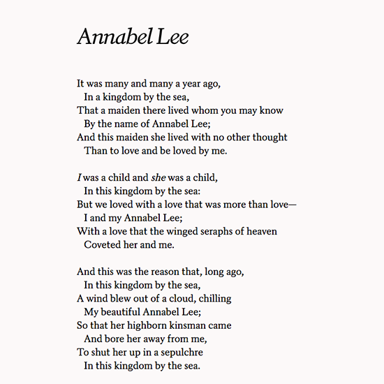 Poets Org On Twitter And The Stars Never Rise But I Feel The Bright Eyes Of The Beautiful Annabel Lee Edgar Allan Poe Born Otd In 1809 Https T Co Jp5ksajdlo Https T Co Bwekoruw8h