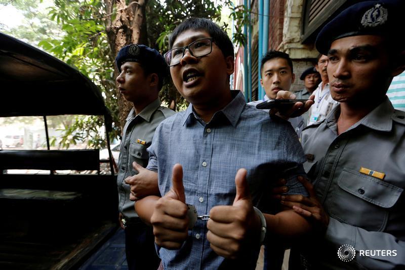 Wa Lone and Kyaw Soe Oo, two @Reuters journalists, have been imprisoned in Myanmar since Dec. 12, 2017. Follow the case: https://reut.rs/2FI6VdN