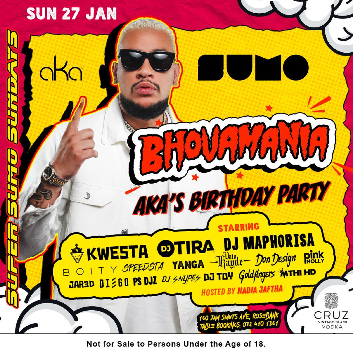 """We kick off """"BHOVAMANIA"""" throughout JAN/FEB at @KONG_urban NEXT SUNDAY as we celebrate Ⓜ️ORE LIFE 💸🎁 We have the MOST insane line up of BIG SHOTS 🔫💥 AND SUPASTARS ⭐️ DO NOT PLAY YOURSELF!!!! 🚀🚀"""