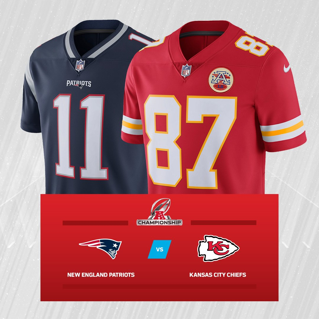 The @Patriots and @Chiefs are battling it out in the AFC Championship Game for a ticket to #SBLIII! Who ya got? #NEvsKC  RT for #LetsRoll  Fav for #EverythingWeGot