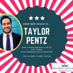 """Taylor's advice is """"Surround yourself with people who have dreams, curiosity, & ambition; they'll help you push for it and realize your own.""""  Give Taylor a warm welcome to the #HPUFamily ! Come meet him this afternoon from 2-3pm in the Graves Collaboratorium in Cottrell Hall."""