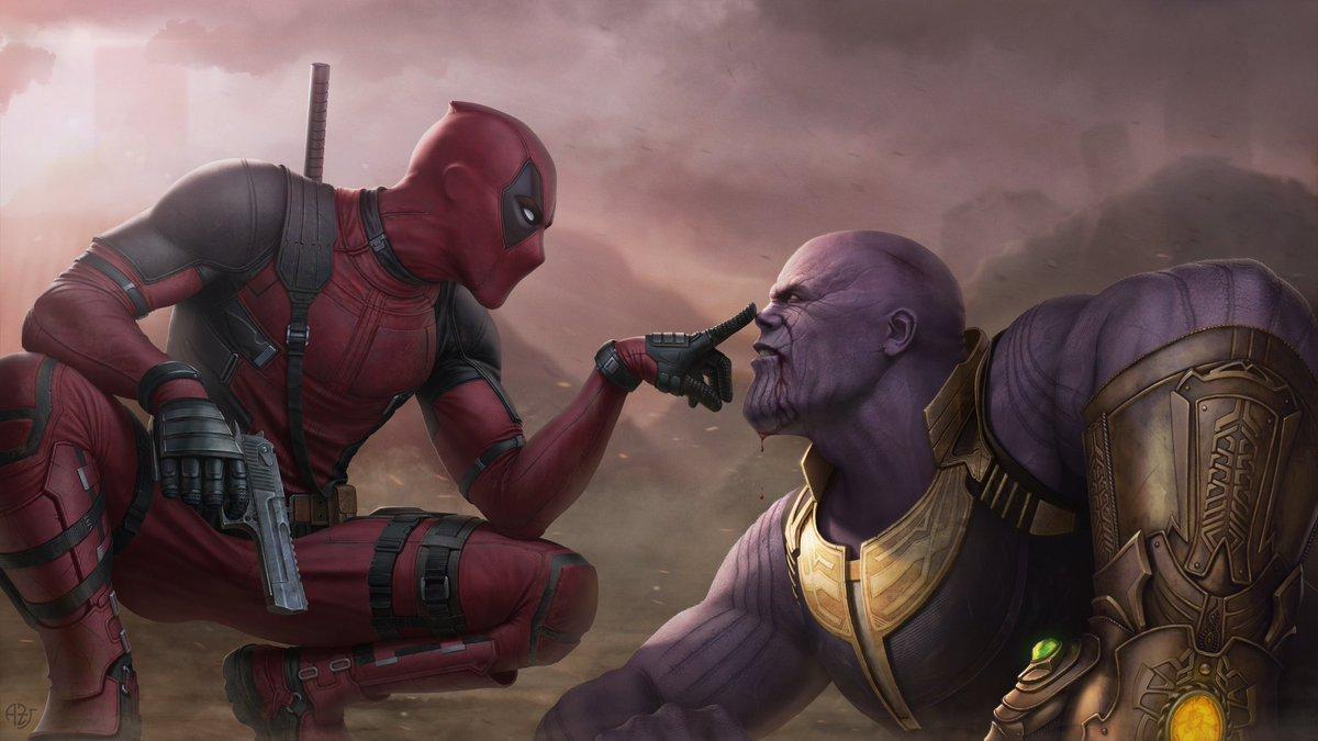 #Illustration: Deadpool vs Thanos   Artist: Andrey Zheltov (ArtStation) <br>http://pic.twitter.com/Anc4MKJLEx