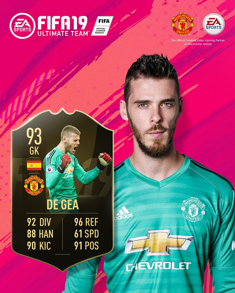 Those stats 😍  @D_DeGea's efforts v Spurs have earned him a place in the @EASPORTSFIFA #TOTW! 👏 #FIFA19 #DaveSaves