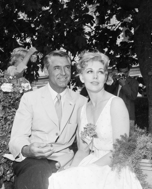 Happy birthday, maestro.  Cary Grant with Kim Novak.