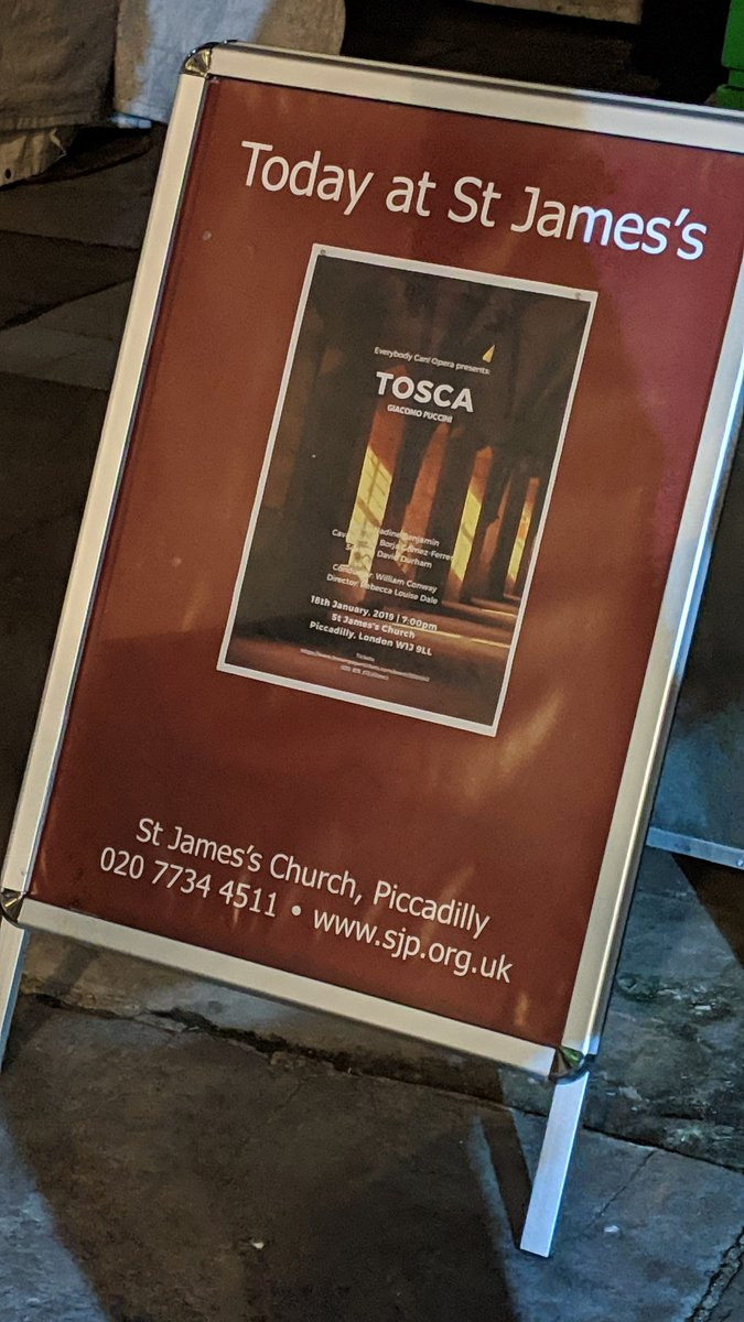 test Twitter Media - Here to see my first opera of 2019. #Tosca #stjamesschurch to see #NadineBenjamin toi x 3 https://t.co/3x4ldl30a9