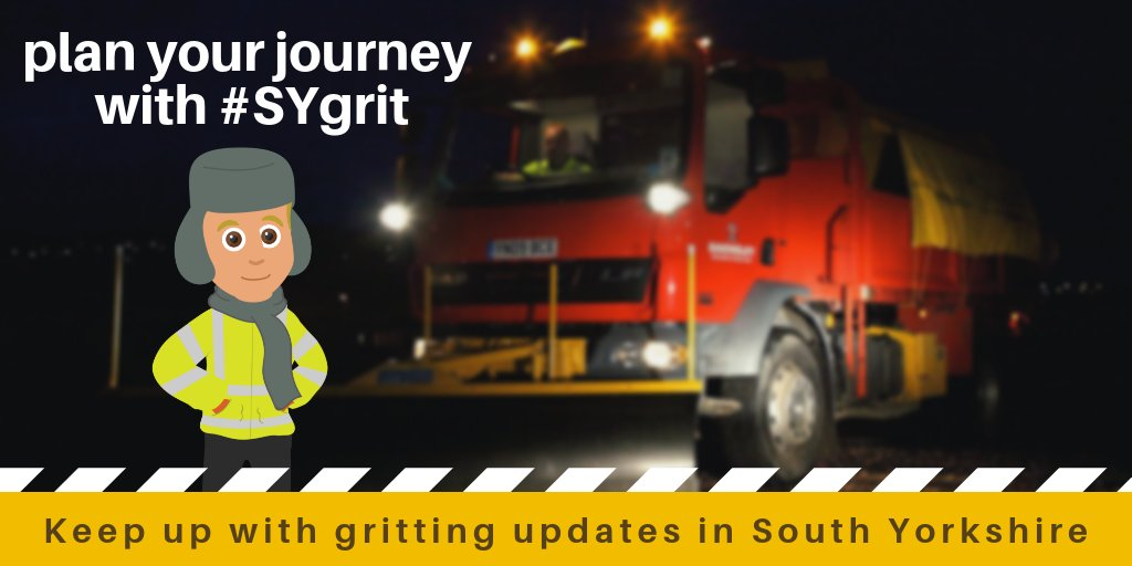 A warm night in? Not for our #WinterWarriors! Our gritting crews have been out since 5.30pm, gritting the main roads around Penistone and western parts of Barnsley. Take care! For a full list of Barnsley's main gritting routes visit http://Barnsley.gov.uk/gritting #SYgrit