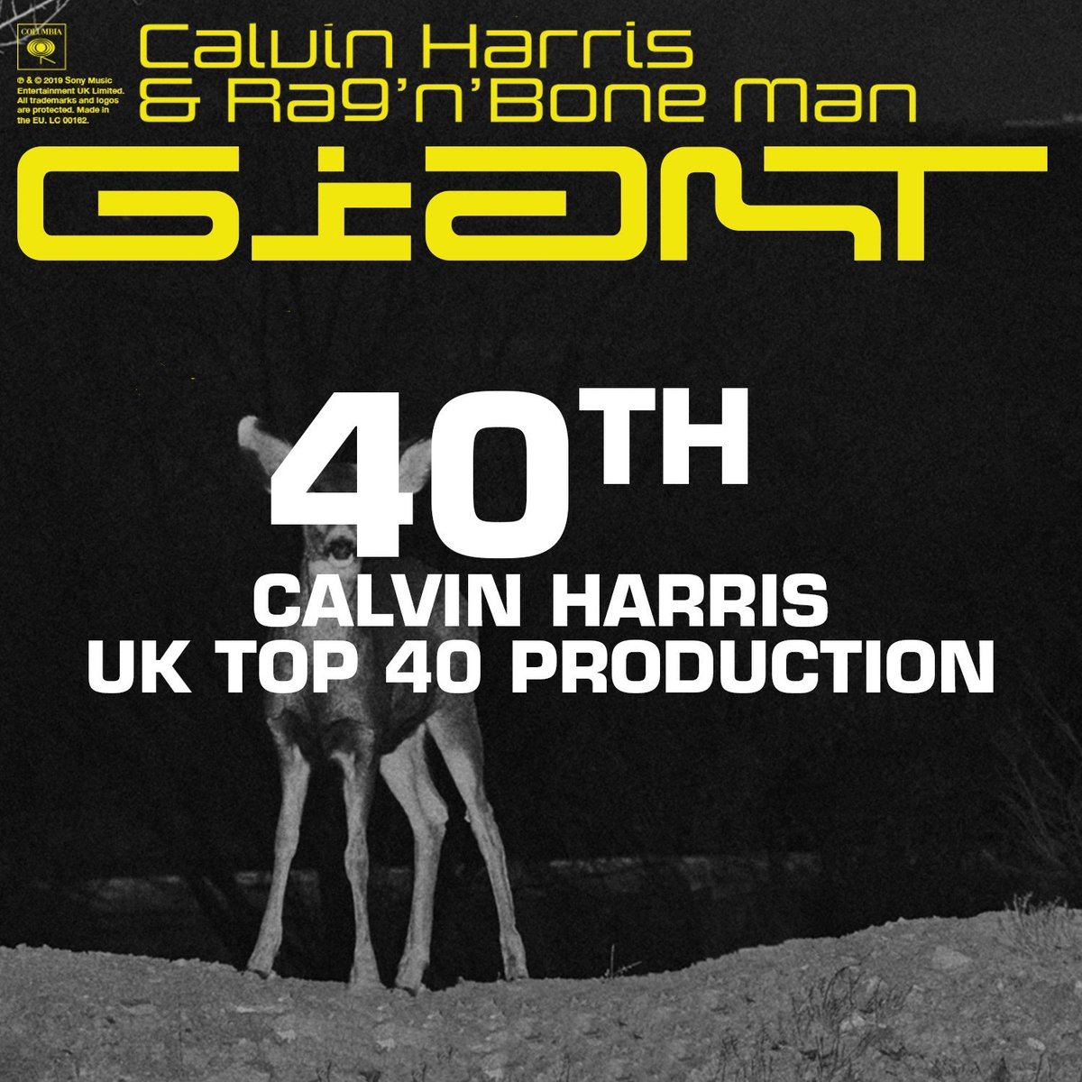 Giant is my 40th top 40 production! What a great birthday present 😁Thank you!!! https://t.co/CIAeVlGgN2