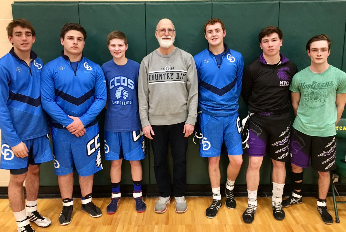 Our wrestling family includes @SJHavlovic (Class of 1973) and his mother who taught at CCDS FROM 1957-1967.  Thank you for visiting with us at the Sycamore Invitational!